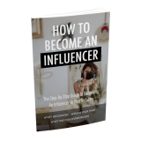 How To Become An Influencer's Book Image