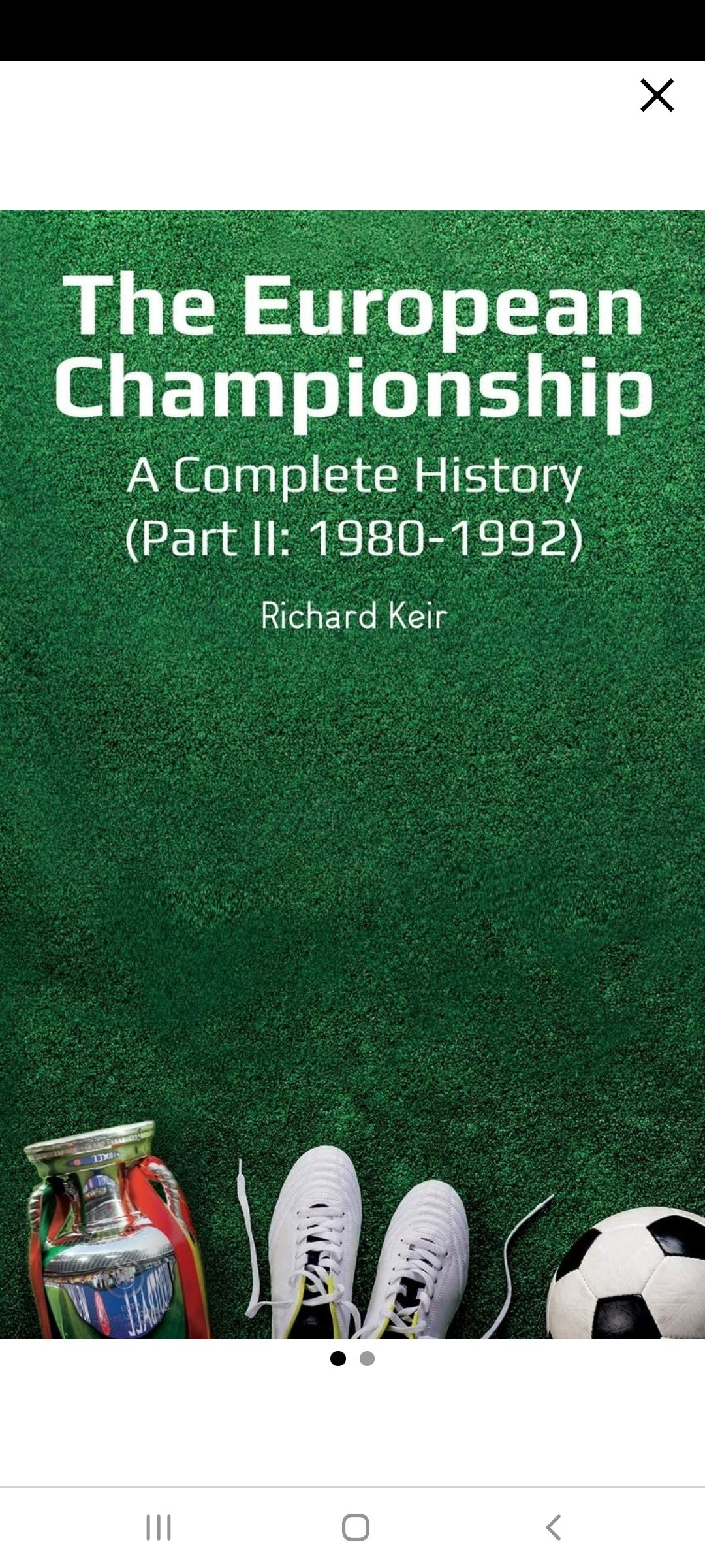THE EUROPEAN CHAMPIONSHIP A COMPLETE HISTORY PART 2 (1980-1992)'s Book Image