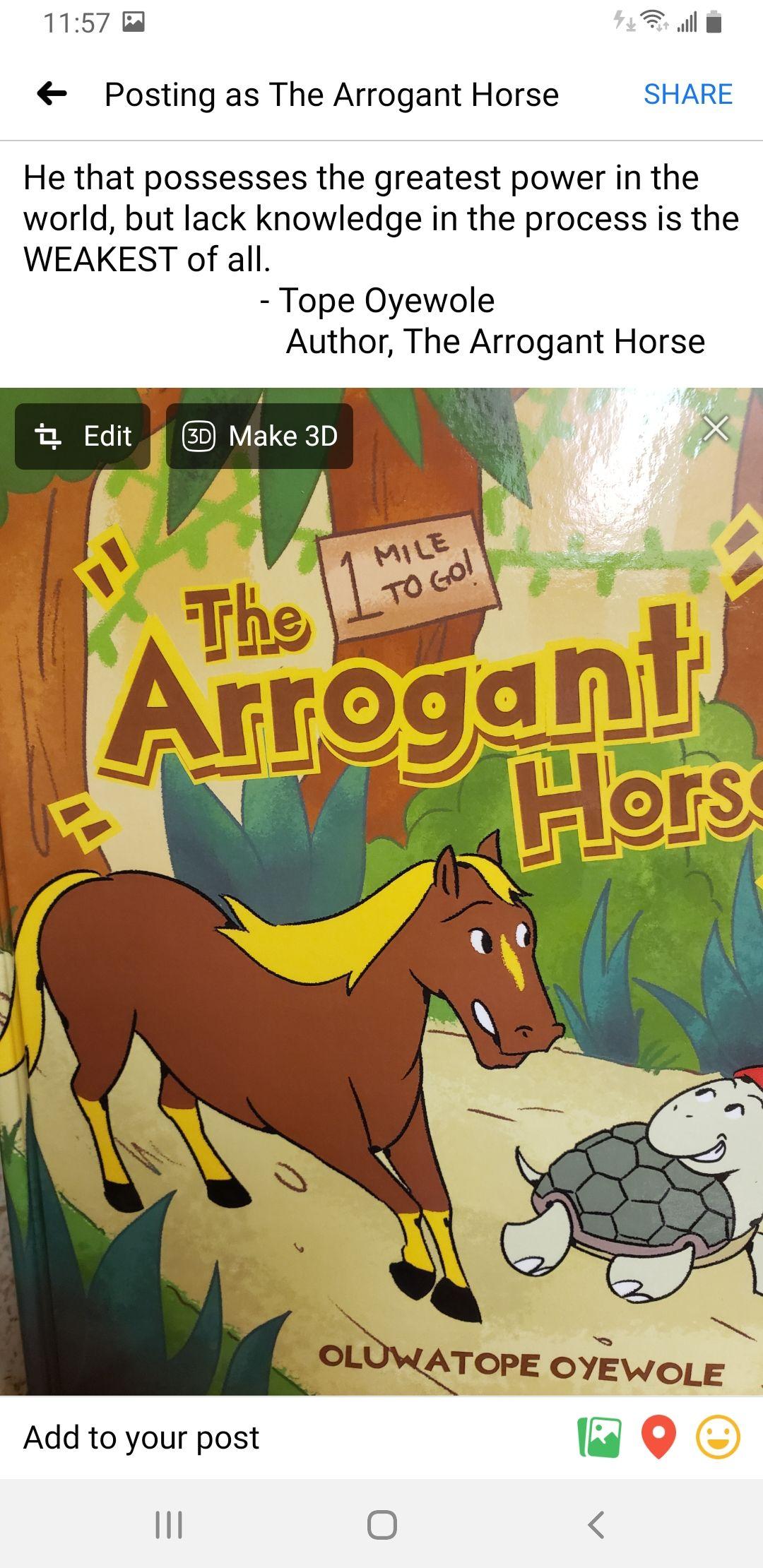 The Arrogant Horse's Book Image