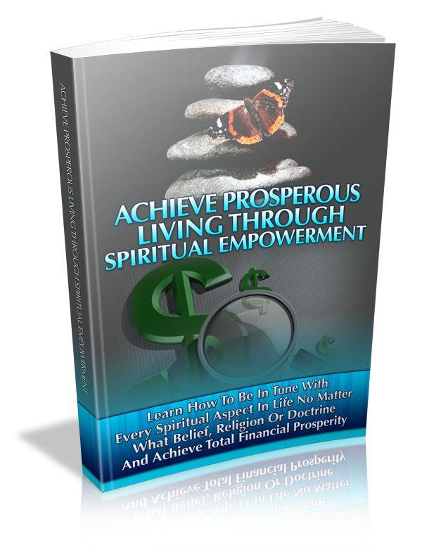 Achieve Prosperous Living through Spiritual Empowerment's Book Image