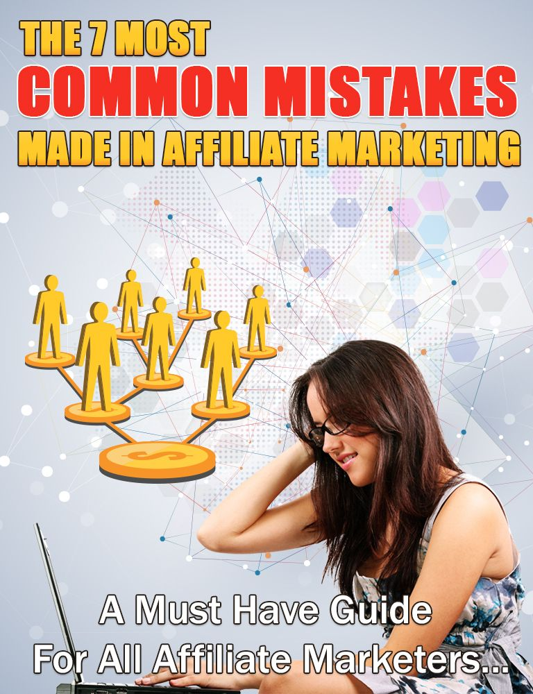 The 7 most common mistakes made in affiliate marketing's Book Image