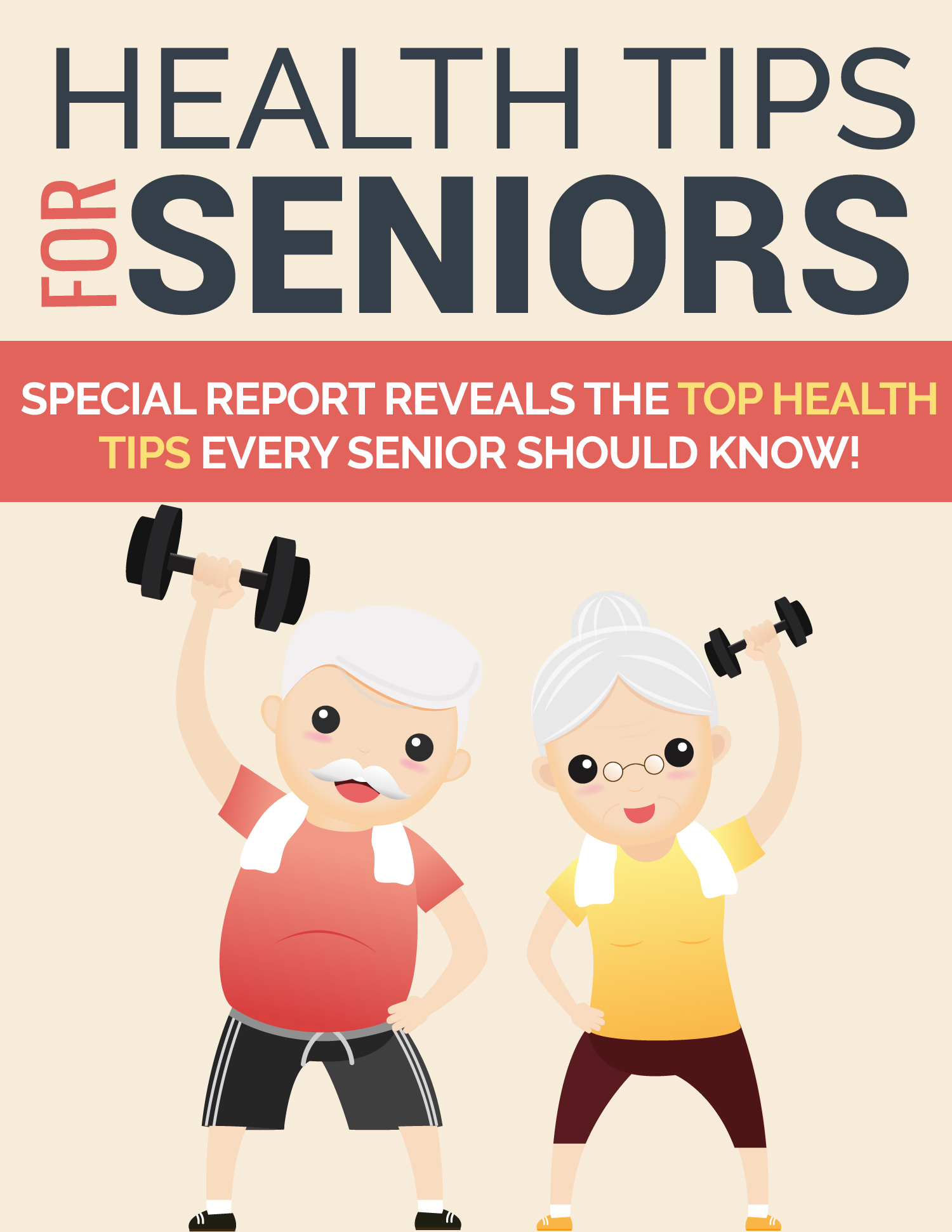Health Tips For Seniors Ebook's Book Image