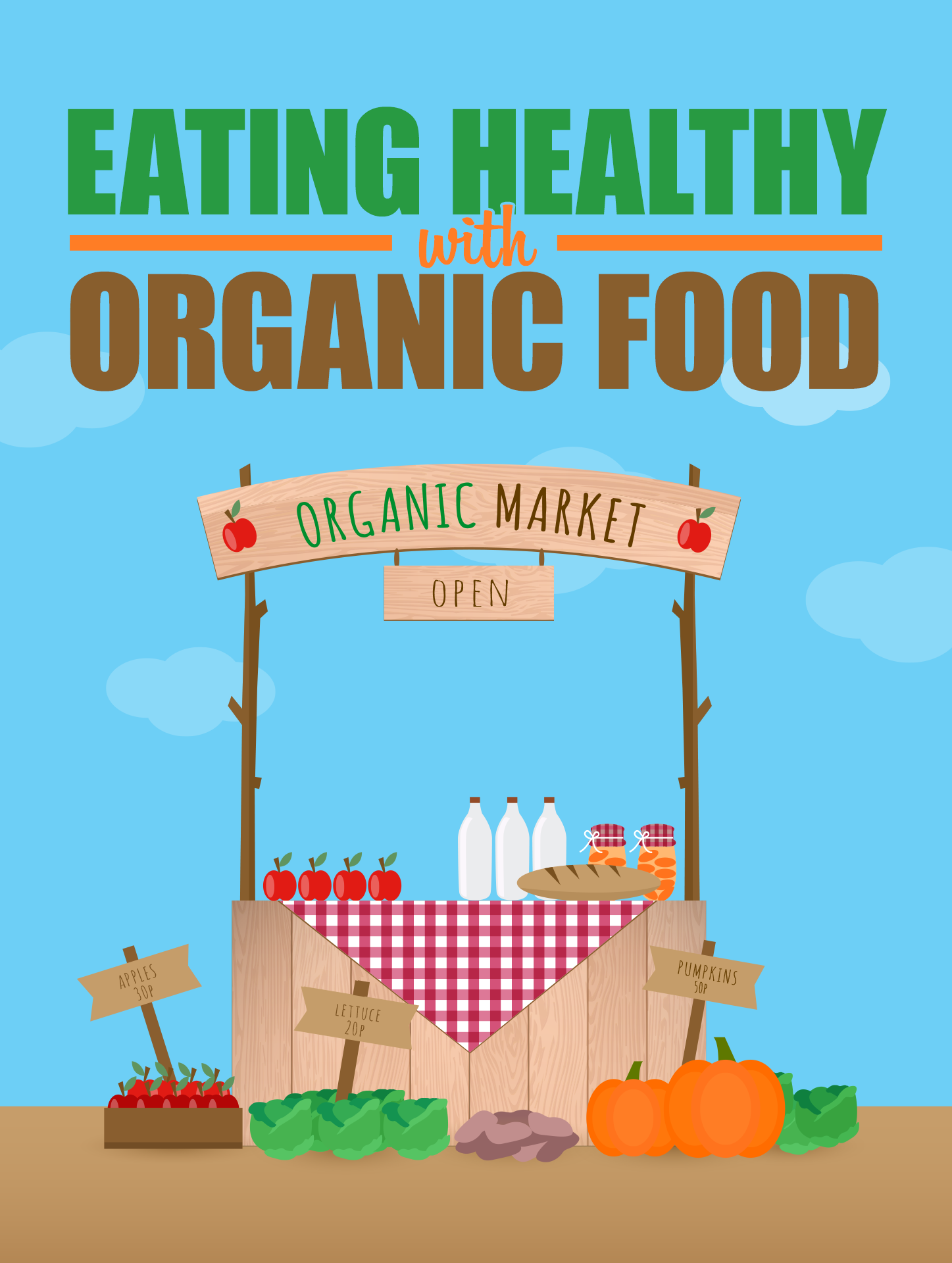 Eating Healthy With Organic Food Ebook's Ebook Image